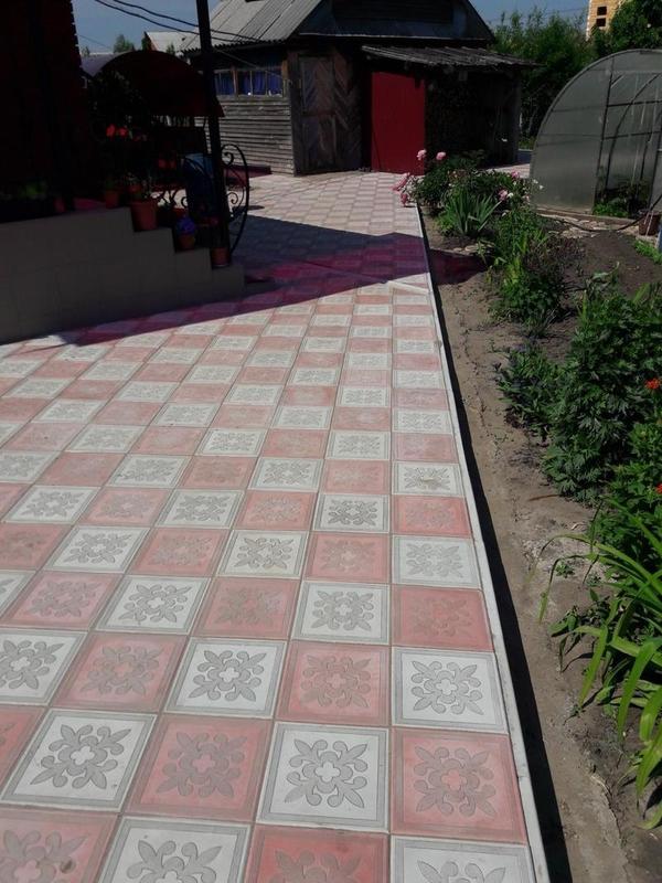 Укладка тротуарной плитки,  брусчатки 4